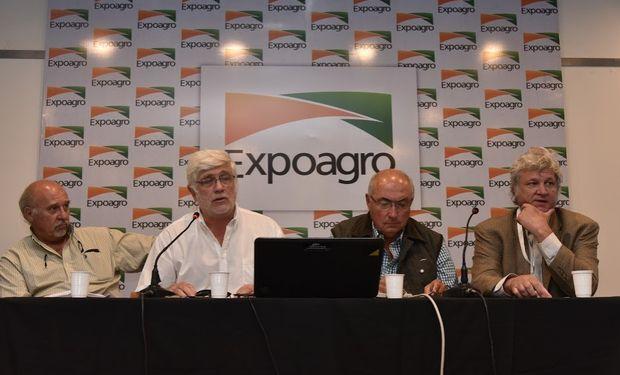 Guillermo Pozzi Jáuregui, de ASAGIR; Alberto Morelli, de Maizar; Rodolfo Rossi, por ACSoja; David Hughes, por Argentrigo.