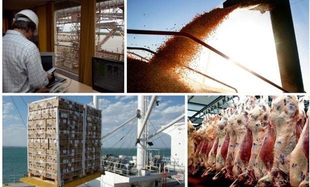 Los envíos de soja, cereales, carne y cuero representan la mitad de las exportaciones.