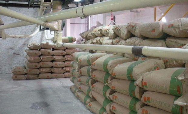 Exportación de harina de trigo.