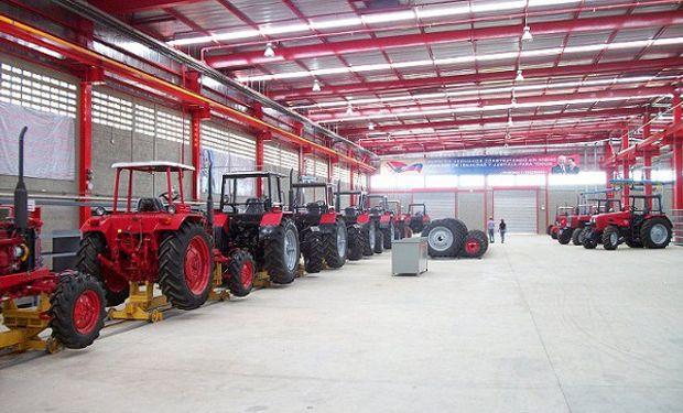 Hubo un fuerte desplome en la exportación de tractores.