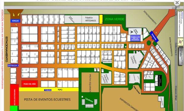 Plano de la 82° edición de la Expo Rural de Río Cuarto.
