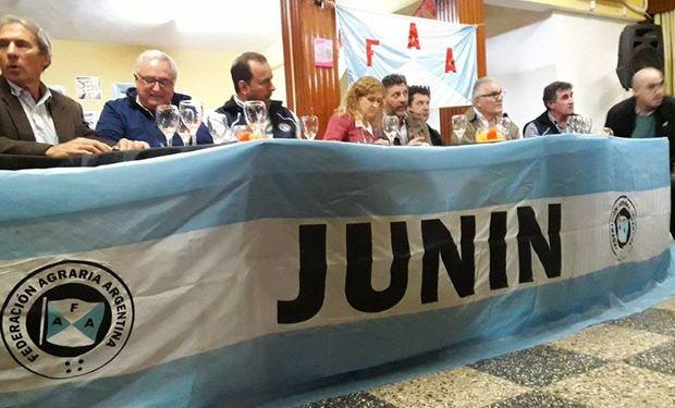 La asamblea que FAA organizó en Junín.