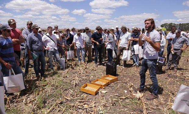 El Ing Agr Federico Sanchez del INTA Agroindustria durante el encuentro DAR que KWS llevó a cabo en Crespo, Entre Ríos.