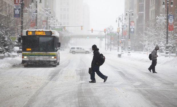 Avanza el frío polar en Estados Unidos y cada vez hay más zonas del país paralizadas