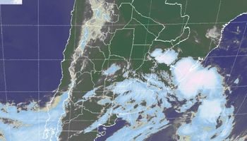 Fuerte despliegue de nieblas sobre Argentina