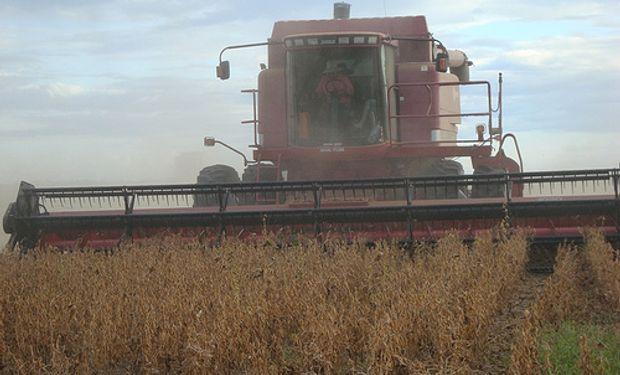 Pudo darse inicio a la cosecha de soja por las buenas condiciones climáticas.