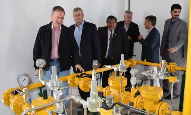 Schiaretti inauguró nuevos tramos del Gasoducto Manisero.