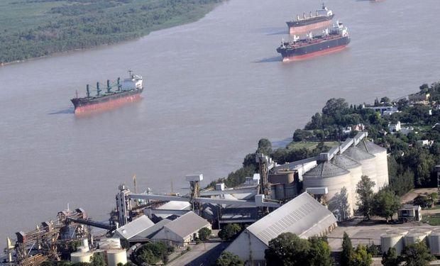 De los puertos del Gran Rosario salieron 39,36 millones de toneladas de poroto, harina y aceite de soja.