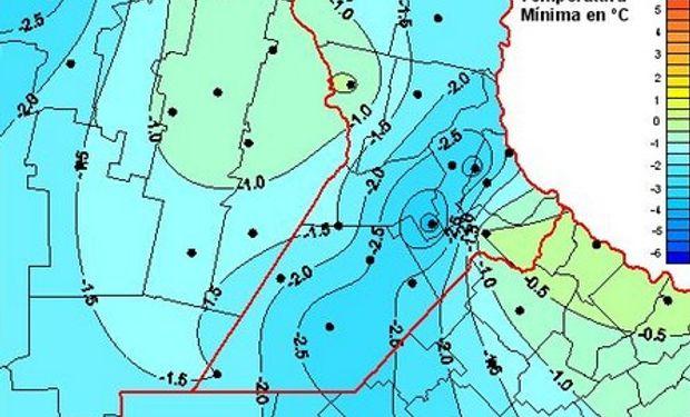 Heladas sobre la franja central podrían afectar cuadros de trigo