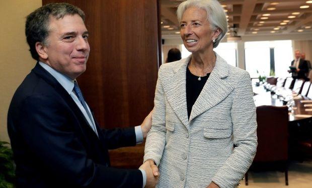 Nicolás Dujovne y Christine Lagarde. Foto: Reuters
