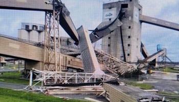 El huracán Ida causó graves daños en un puerto de Cargill