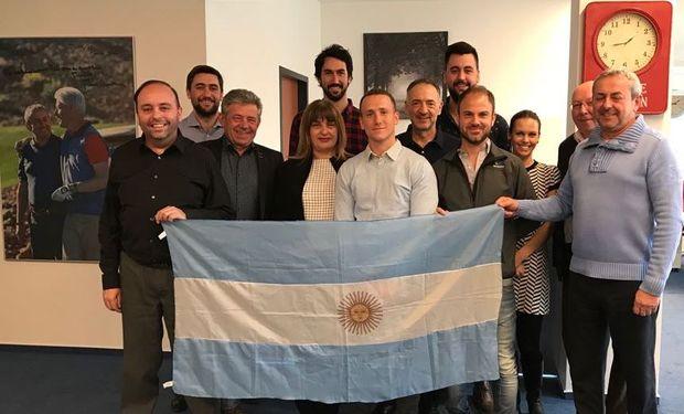 Parte de la delegación que acompañó a AgroActiva en diciembre último a la República Checa.
