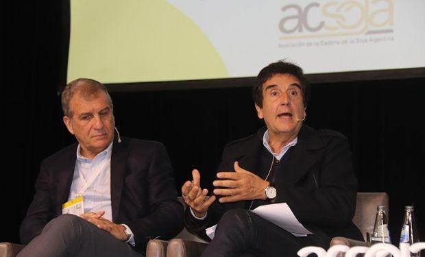 """Melconian cerró """"A Todo Soja"""", el congreso que la Federación de Acopiadores realizó como parte de """"Mercosoja 2019""""."""