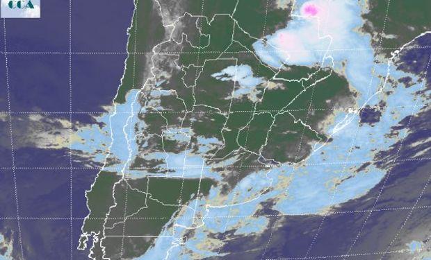 En el recorte de imagen satelital, aun se destaca la variedad de coberturas que afecta la región pampeana.