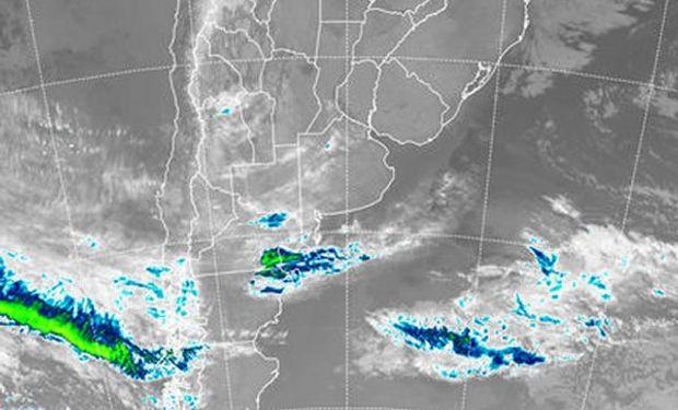 En el recorte de imagen satelital, se aprecia un importante despliegue de cielos despejados.