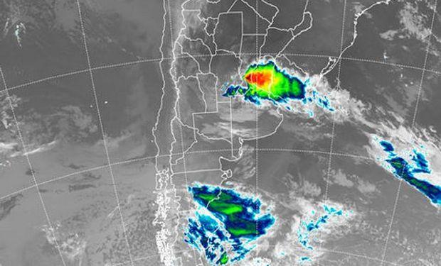 La mayor actividad se observa sobre el norte noreste de Buenos Aires, toda la provincia de entre Ríos y centro sur de Santa Fe.