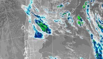 Las lluvias se concentraron sobre el sudeste de Buenos Aires
