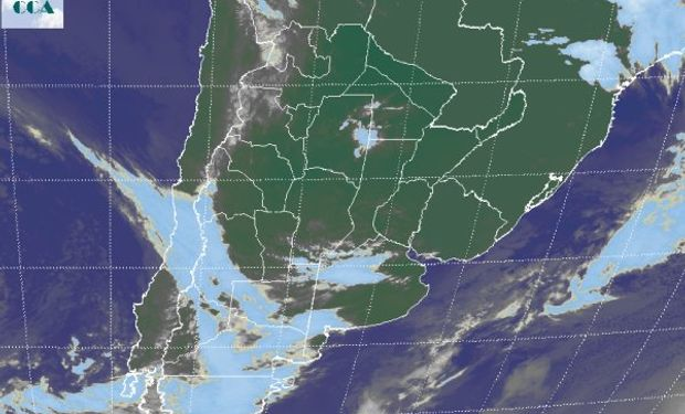 La foto satelital no muestra coberturas significativas.