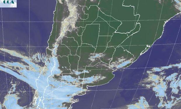 Desde la Patagonia avanza un nuevo sistema frontal, al tiempo que alguna nubosidad remanente se aprecia sobre la zona núcleo, aunque sin potencial pluvial