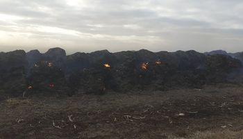 Investigan las causas del voraz incendio en el campo del presidente de La Rural de Río Cuarto