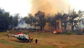 El incendio en la provincia de Chubut es incontrolable