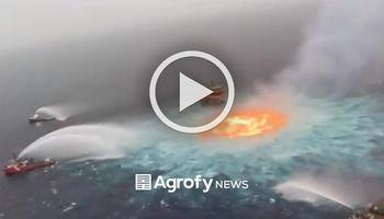 Se incendia el mar: impactantes imágenes en el Golfo de México
