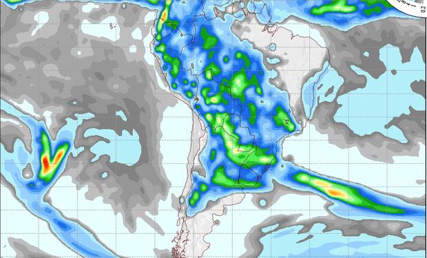 Pronóstico de precipitaciones válido para el 2 de noviembre de 2014