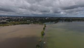 Santa Rosa: la inundación vista desde un drone