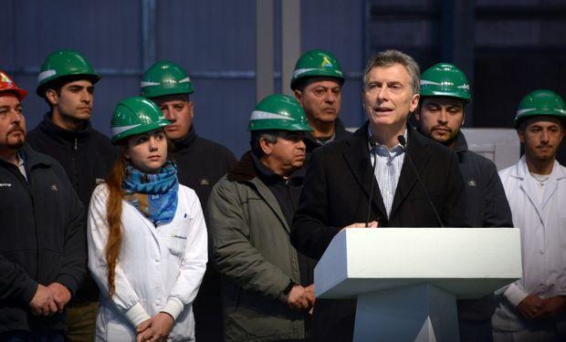 """""""Esta planta expresa lo que somos capaces de hacer los argentinos cuando nos comprometemos y creemos"""", fueron las palabras de Macri."""