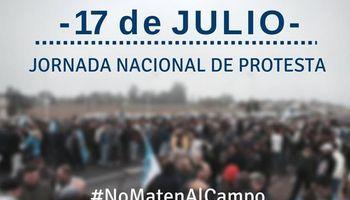 """""""No maten al campo"""": definen cómo será la protesta de este viernes"""