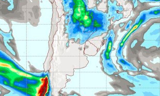 Pronóstico de lluvias para el jueves 4 de mayo.