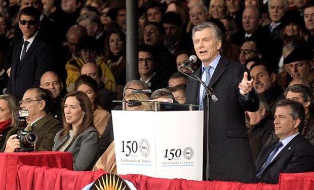 Macri habló durante 20 minutos en La Rural. Foto: DyN.