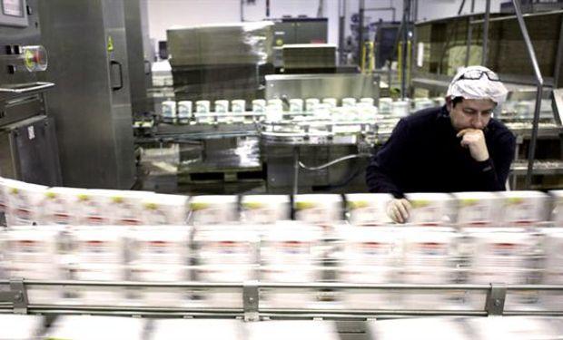 La planta procesa 4,5 millones de litros de leche por día.Foto:Eduardo Carrera/AFV