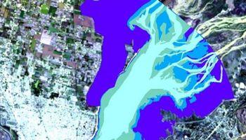 En imágenes: una gran superficie del fondo de la laguna Setúbal quedó al descubierto