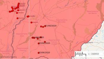 Detectaron la ubicación de la manga de langostas: así se combate a la plaga desde el aire