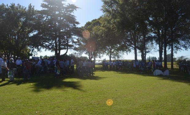 El evento se llevó a cabo en el Campo Experimental de Rizobacter en las afueras de Pergamino.
