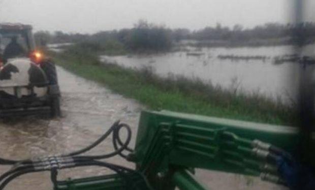 Hay graves inundaciones en la cuenca lechera santafesina.