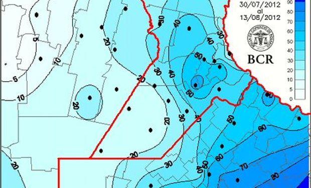 Precipitación en milímetros. Año 2012.