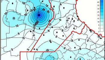 2014: récord de lluvias en la zona núcleo