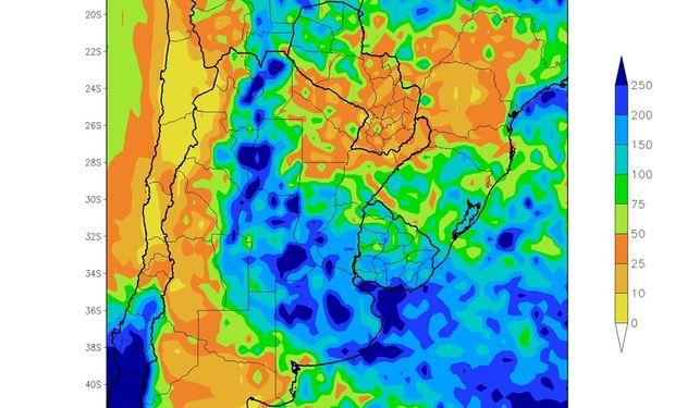 Las precipitaciones de abril, según el mapa elaborado por Sierra.