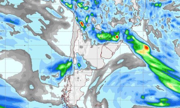 Pronóstico de lluvias para el domingo 12 de marzo.