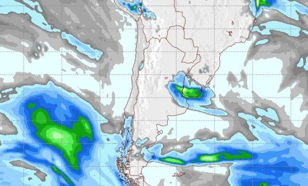 Pronóstico de lluvias para el sábado 27 de agosto.