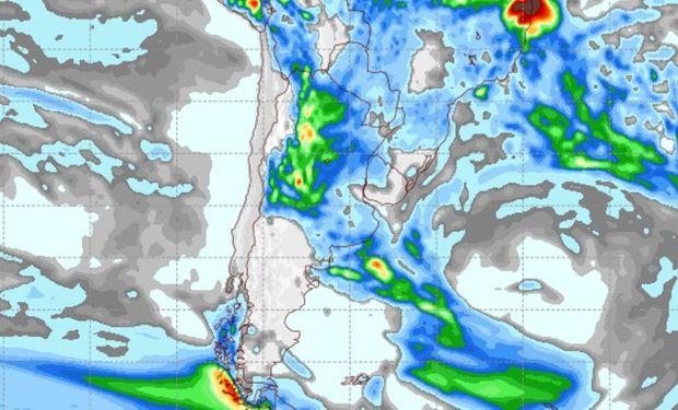 Pronóstico de precipitaciones para el viernes 10 de febrero de 2017.