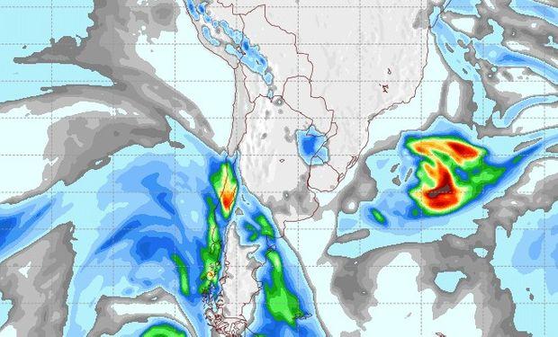 Pronóstico de lluvias para el 10 de agosto.