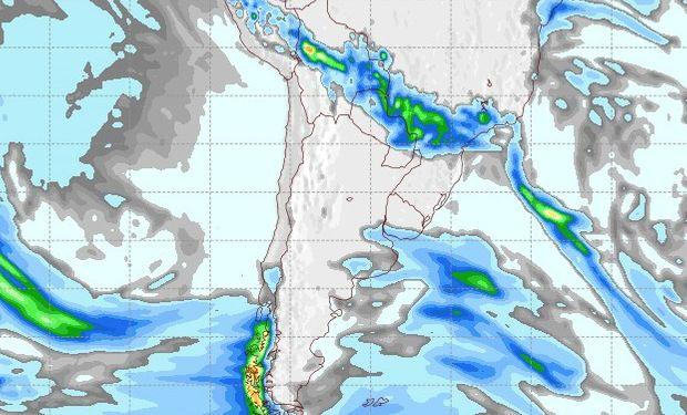 Pronóstico de precipitaciones para el 16 de agosto.