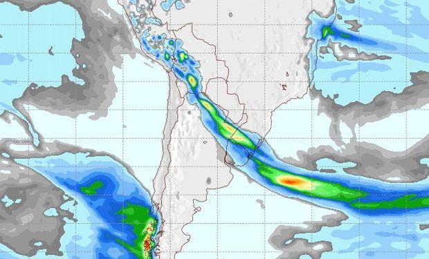 Pronóstico de lluvias para el martes 5 de septiembre.