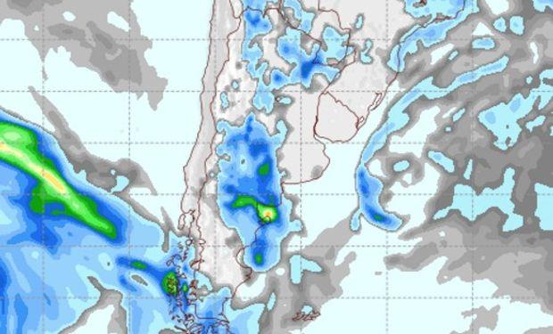Pronóstico de precipitaciones para el domingo.