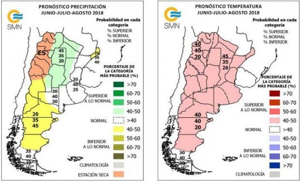 Pronóstico del SMN para junio, julio y agosto.