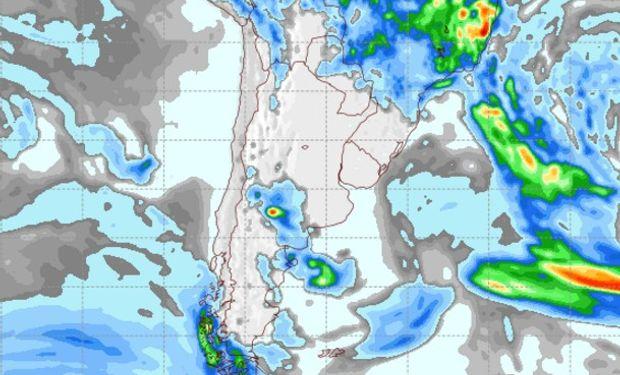 Pronóstico de precipitaciones para el miércoles 8 de febrero de 2017.