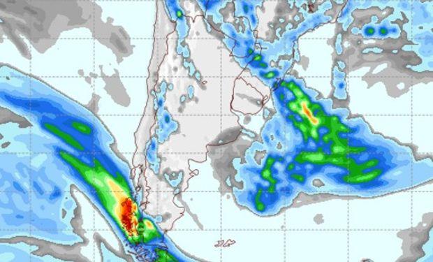 Pronóstico de precipitaciones para el jueves 16 de febrero.